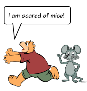 afraid of mice